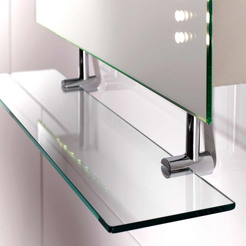 Pebble Grey Florence LED Illuminated Rectangular Bathroom Mirror ...