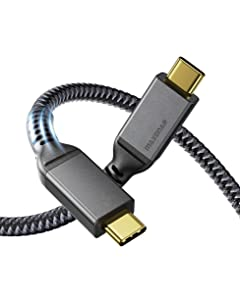 Thunderbolt 3 Cable 4Ft/40Gbps/5K, Maxonar USB4 Cable 20V/5A 100W Supports Single 5K 60hz or 2X 4K 60hz Monitor, External SSD, eGpu (External Gpu), USB-C Docking Station (1.2M)