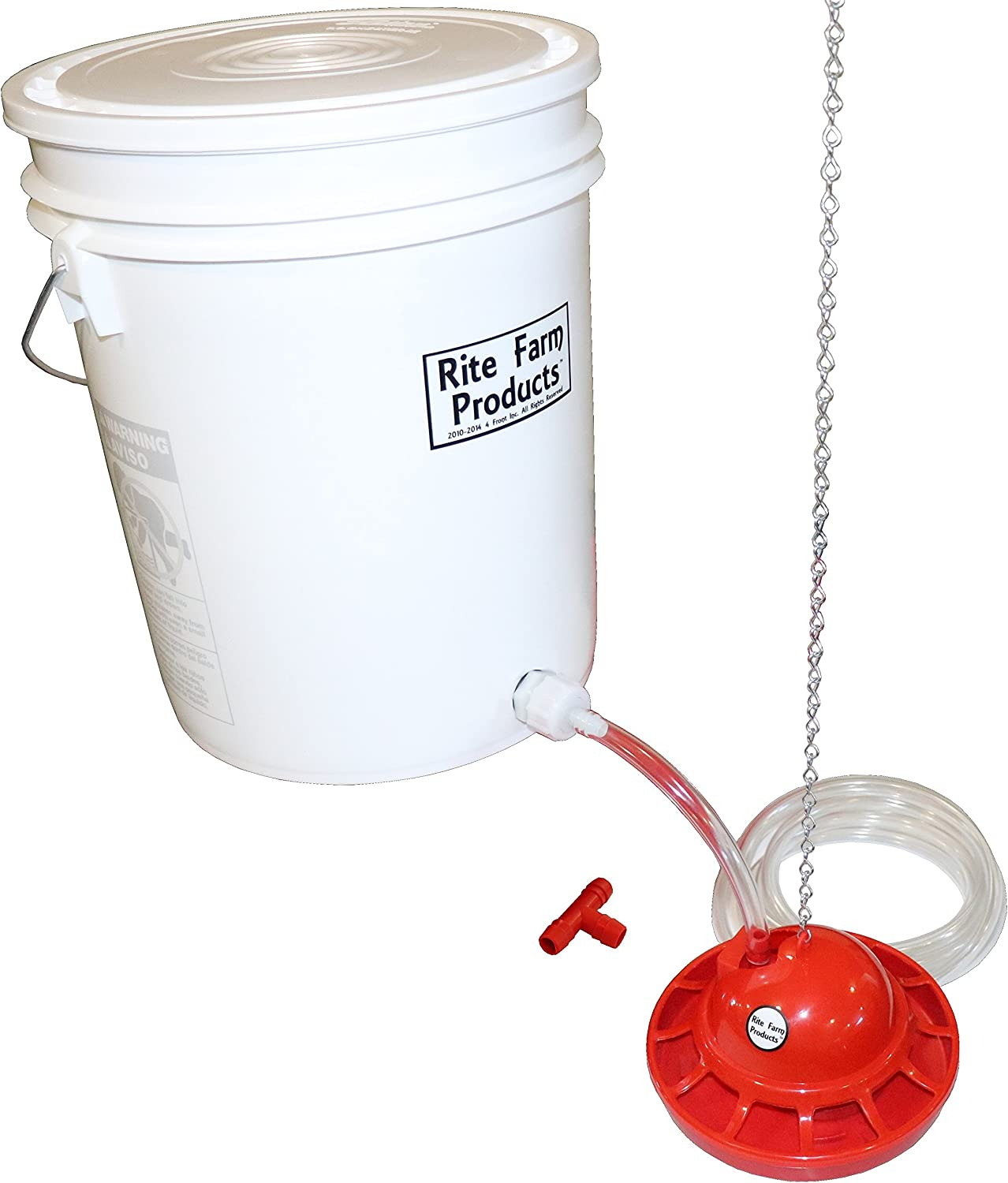 """5 GALLON 3//8/"""" HOSE BARB GRAVITY WATER SUP KIT FOR POULTRY DRINKER CUPS CHICKEN"""