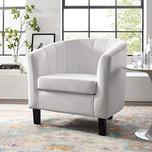 Modway Prospect Channel Tufted Upholstered Velvet Armchair