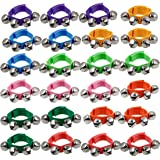 """Happy Trees Band Wrist Bells, 9"""" Wrist Shaking Jingle Bells, Adjustable Ankle Bell Toys for Kids, 24 Pcs"""