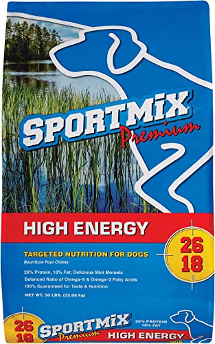 Sportmix High Energy Adult Mini Chunk Dry Dog Food, 50 Lb.