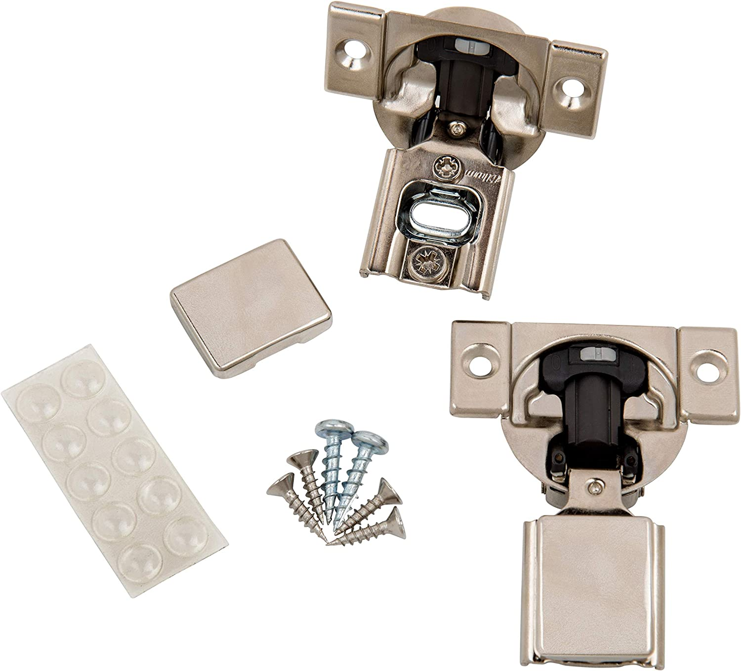 """Blum (20 Pack) 3/8"""" Overlay Soft Close Hinge 38N355B.06 105° Blumotion with Screws, Cover Caps, ProCabinetBumpers Bumpers"""