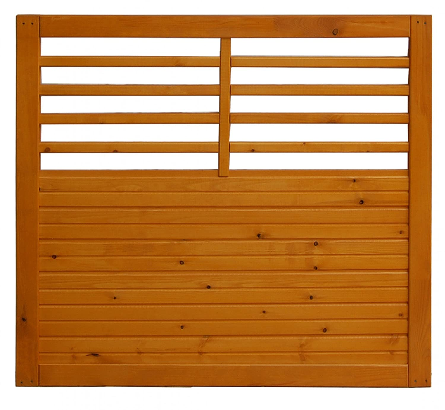 Andrewex wooden wicket, garden fence, fencing panel 90x100, varnished, pinie