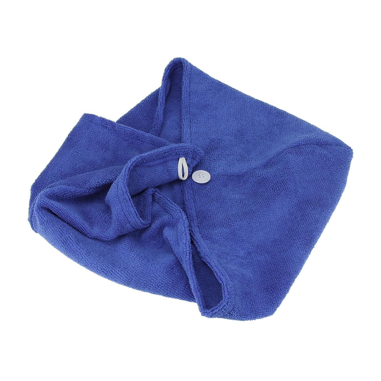 toalla de ba/ño toalla toalla de Spa 23.4*9.8 inch Toalla de Pelo de microfibra r/ápido secado de pelo turbante toalla Super absorbente turbante Wrap Wrap Toalla de secado r/ápido ligero Cabello Seco Cap azul celeste