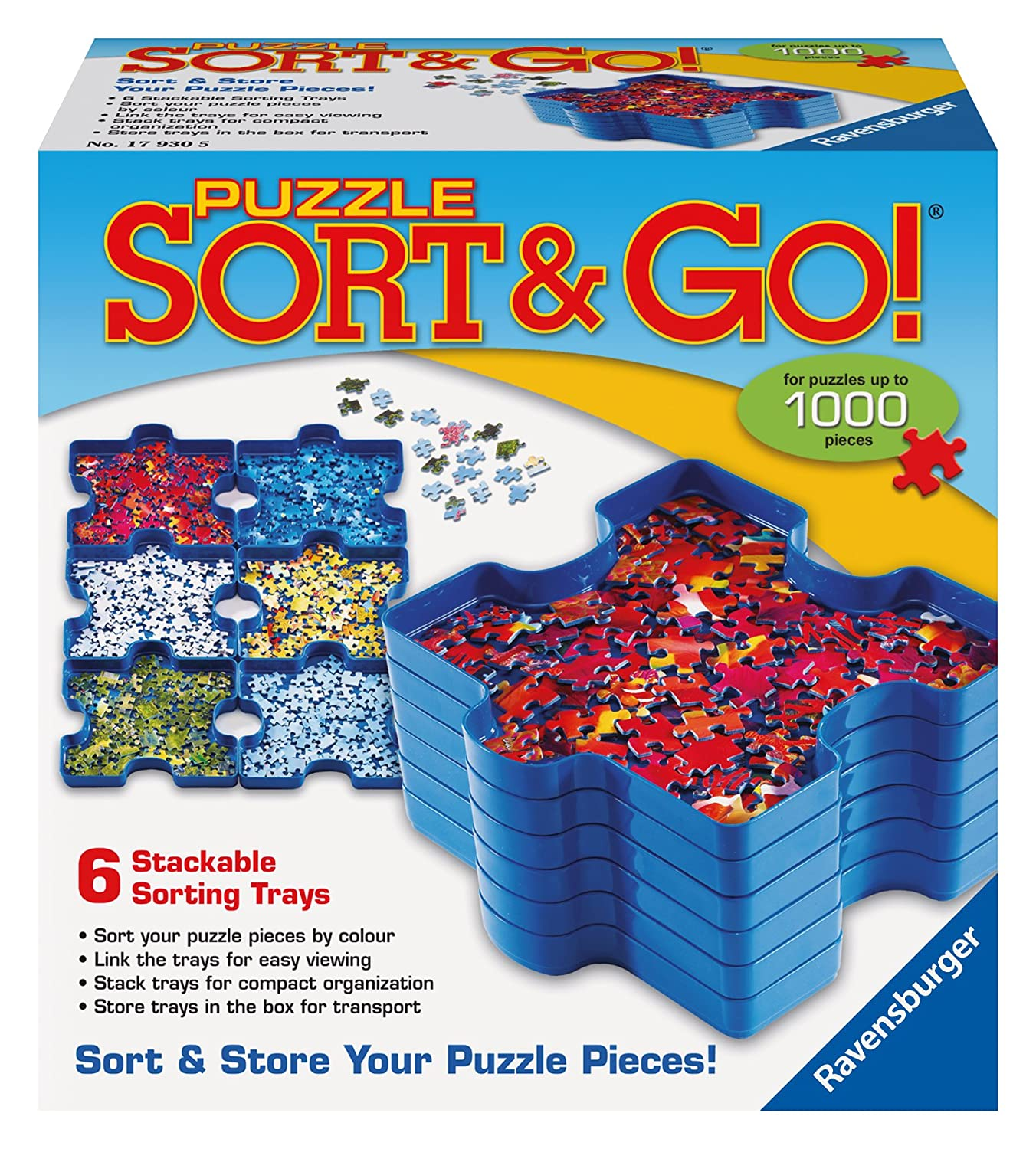 amazon com puzzle sort and go jigsaw puzzle accessory