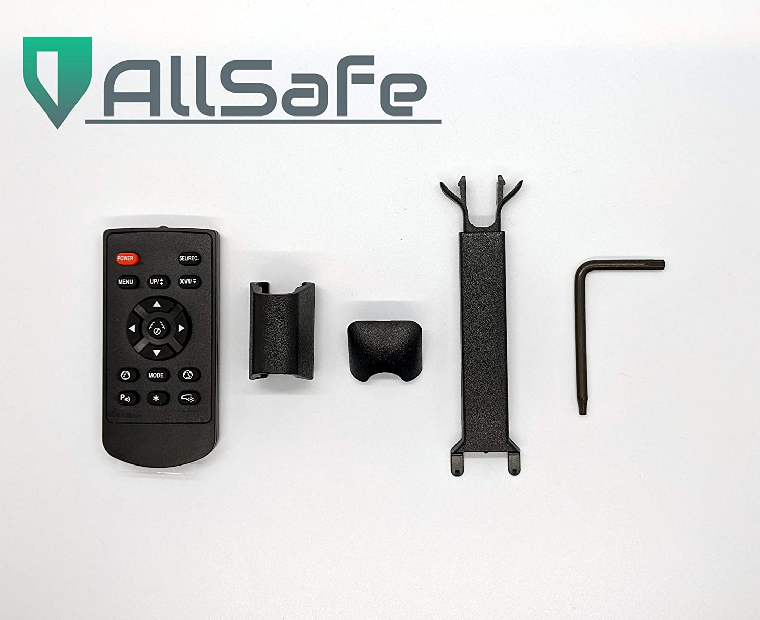 AllSafe Auto 7.3 LCD Rear View Mirror Universal Kit in-Mirror Video Monitor