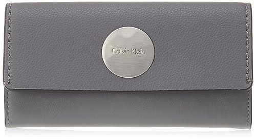 Calvin Klein - Monedero Mujer, Gris (Gris (Steel Grey 002 ...