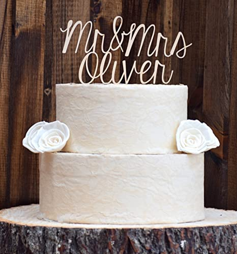 Amazon.com: Wedding Cake Topper - Cake Toppers - Rustic Cake Topper ...