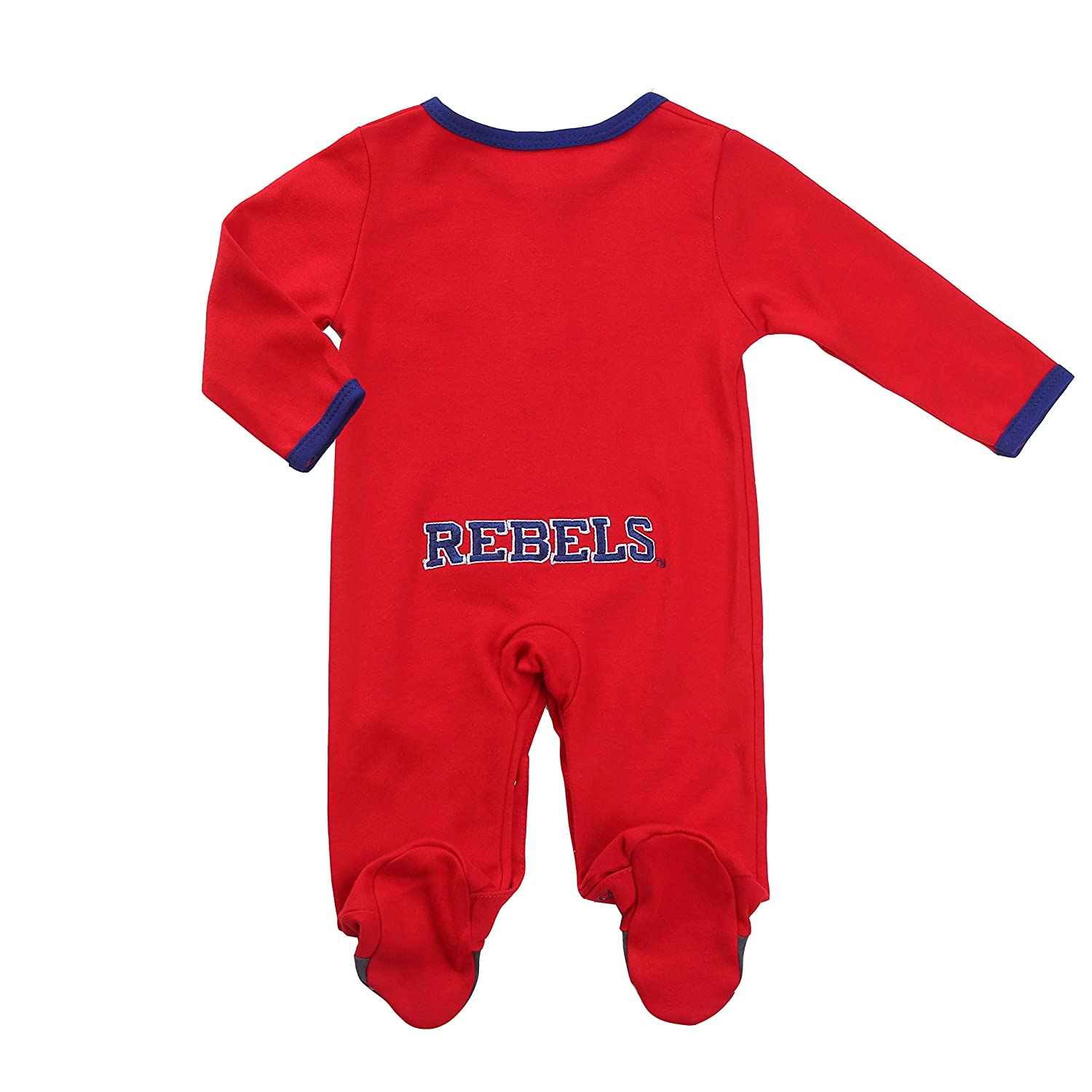 Bib and Hats Set Ole Miss Rebel Baby Boy Footie 3 pc