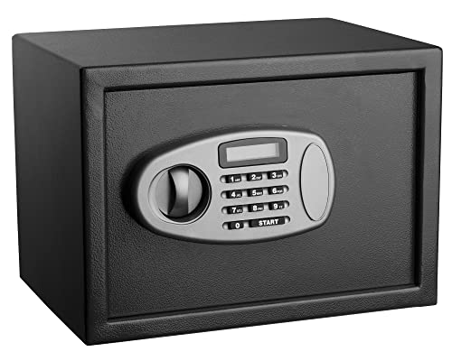 AdirOffice Security Safe with Digital Lock - Black - 0.5 Cubic Feet