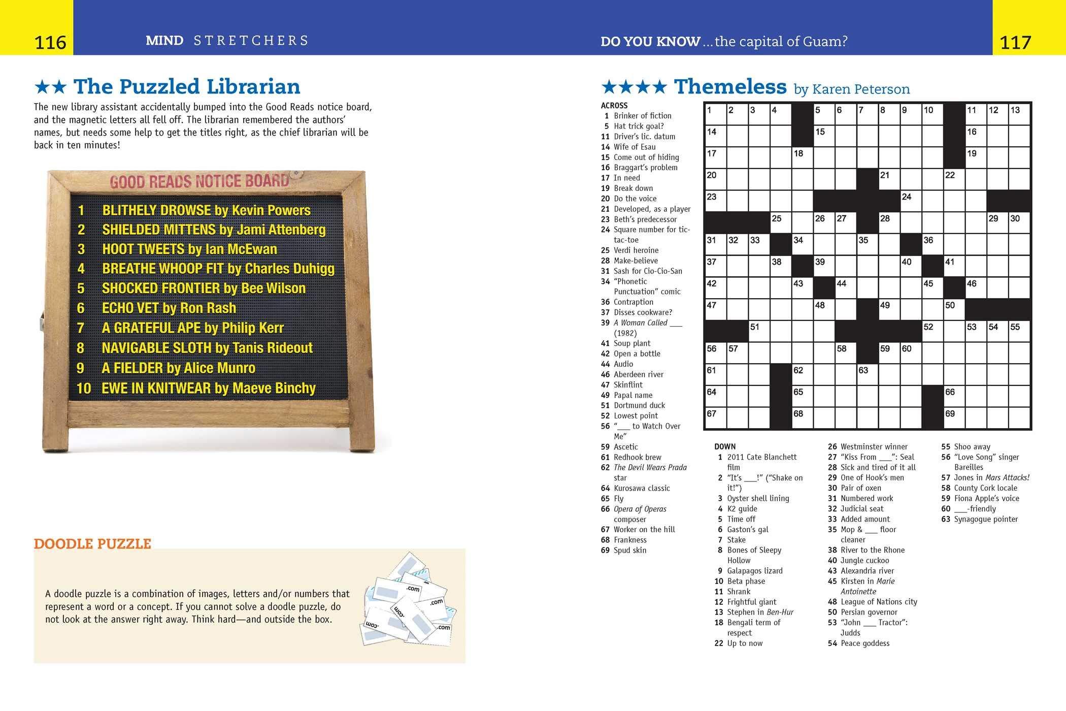 Reader S Digest Mind Stretchers Puzzle Book Number Puzzles Crosswords Word Searches Logic Puzzles Surprises 1 Amazon Co Uk Bragdon Allen D 9781621453512 Books