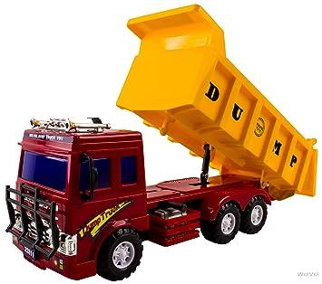 Big Dump Trucks >> Buy Wolvol Friction Powered Big Dump Truck Toy For Boys