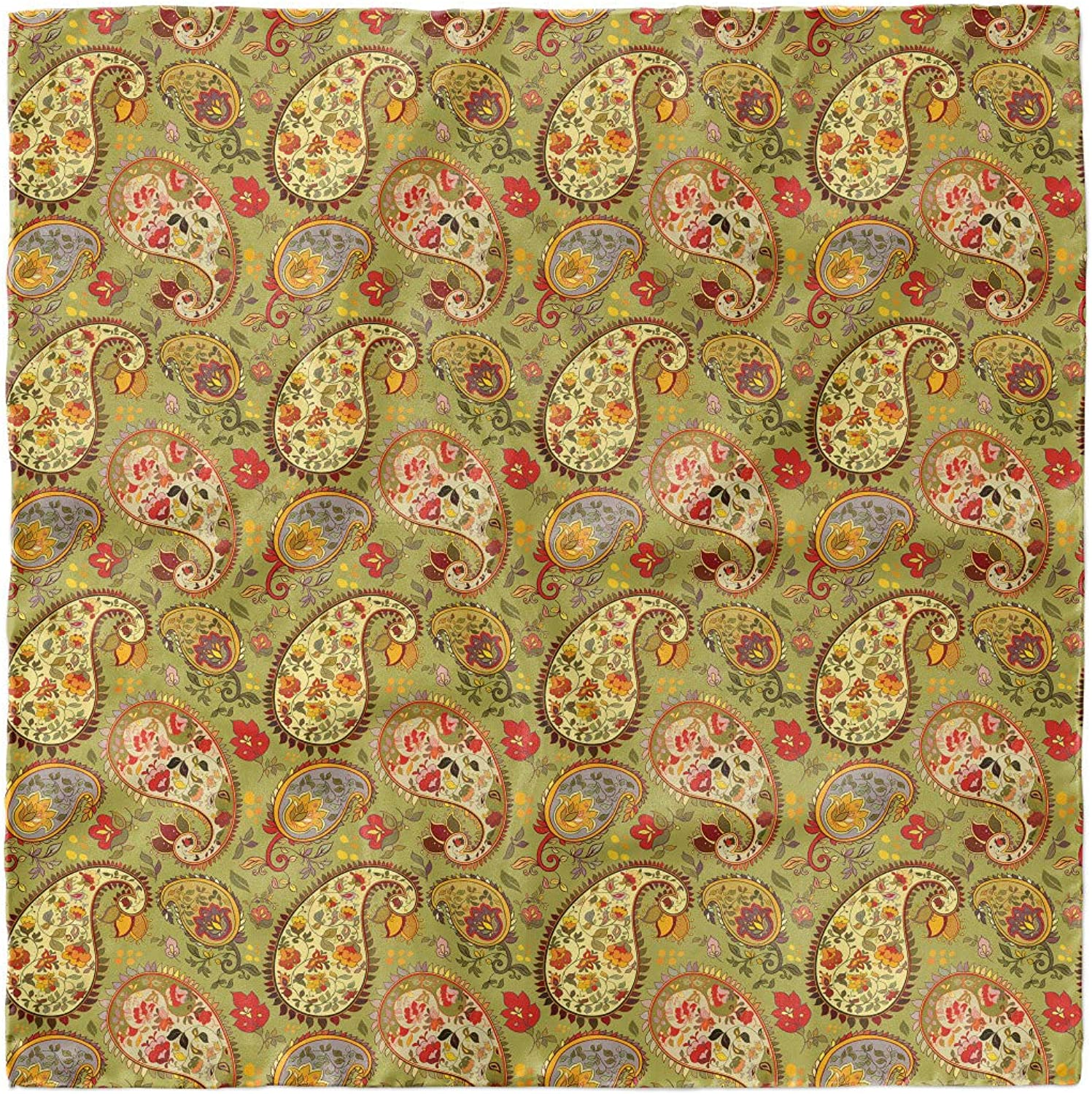 Ambesonne Paisley Headscarf Hijab Scarf Colorful Persian Style