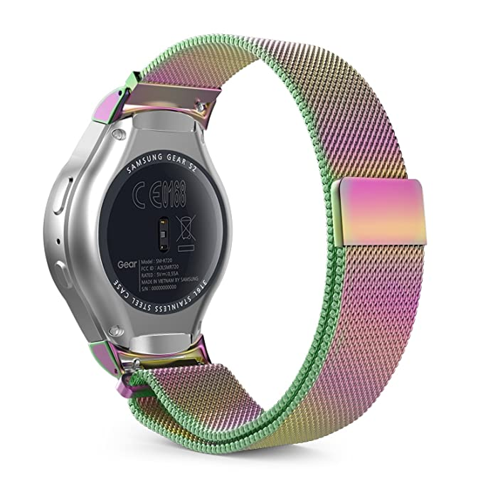 MoKo Gear S2 Watch Band, Milanese Loop Stainless Steel Mesh Bracelet Smart Watch Strap + Connector for Samsung Gear S2 SM-R720 & SM-R730 Smart Watch ...
