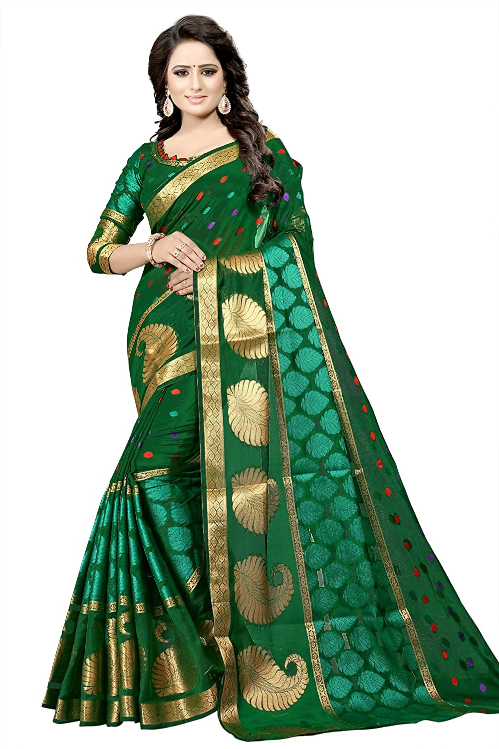 Florence Women's Green Banarasi Silk Woven Saree With