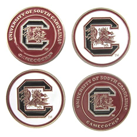 bcf5d5df8fc Image Unavailable. Image not available for. Color  South Carolina Gamecocks Double  Sided Golf Ball Markers ...