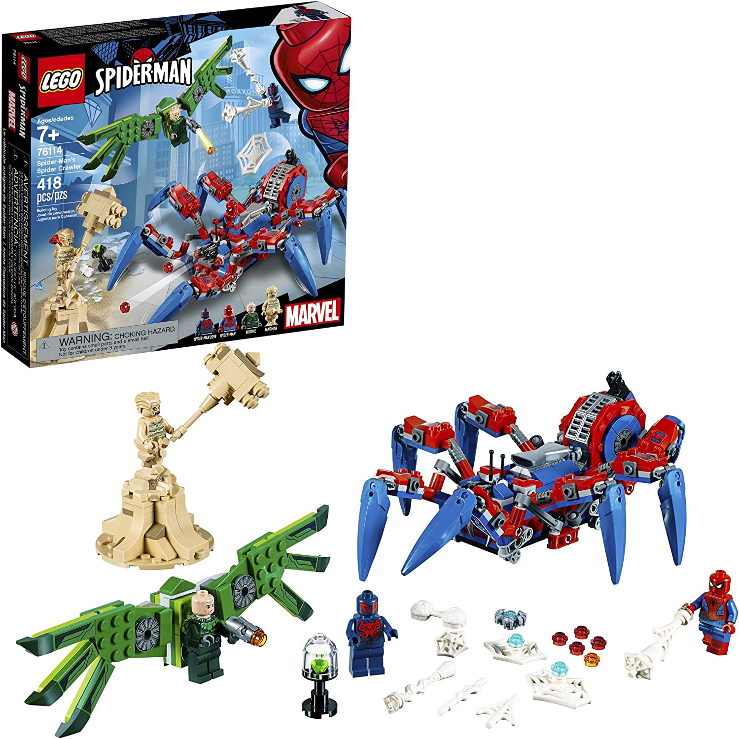 LEGO Marvel Spider-Man: Spider-Man's Spider Crawler 76114 Building Kit (418 Pieces)