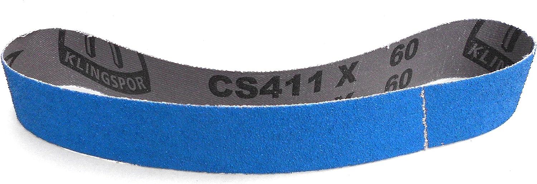 30 x 533 mm 10 St/ück Klingspor CS 411 X Schleifband K/örnung: P80