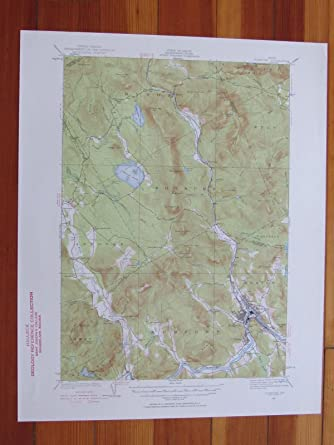 Mexico Maine Map.Amazon Com Rumford Maine 1956 Original Vintage Usgs Topo Map