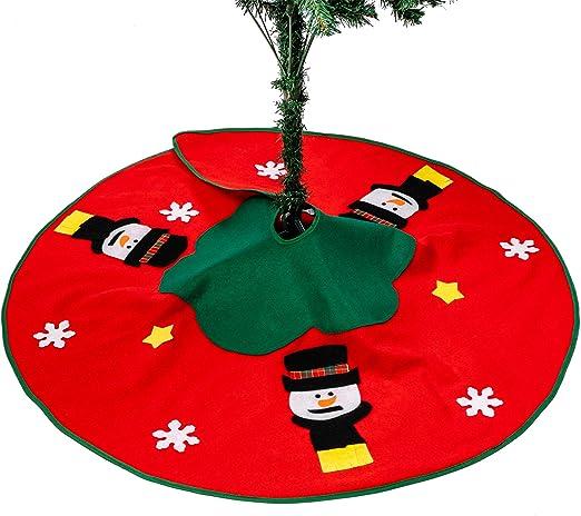 THE TWIDDLERS Pie de Árbol de Navidad - Falda de Árbol con Diseño ...