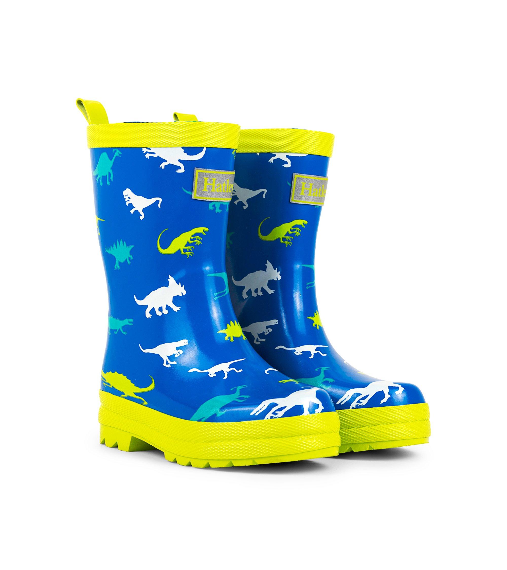 Hatley Boys' Printed Rain Boots Raincoat, Dinosaur Menagerie, 9 US Child by Hatley