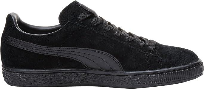 Volver a disparar Factura Horizontal  Amazon.com   PUMA Suede Classic Leather Formstrip Sneaker, Black/Black, 4  D(M) US   Fashion Sneakers