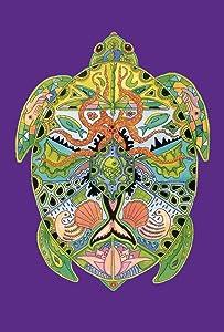Toland Home Garden Animal Spirits Sea Turtle 12.5 x 18 Inch Decorative Native Ocean Creature Tortoise Garden Flag