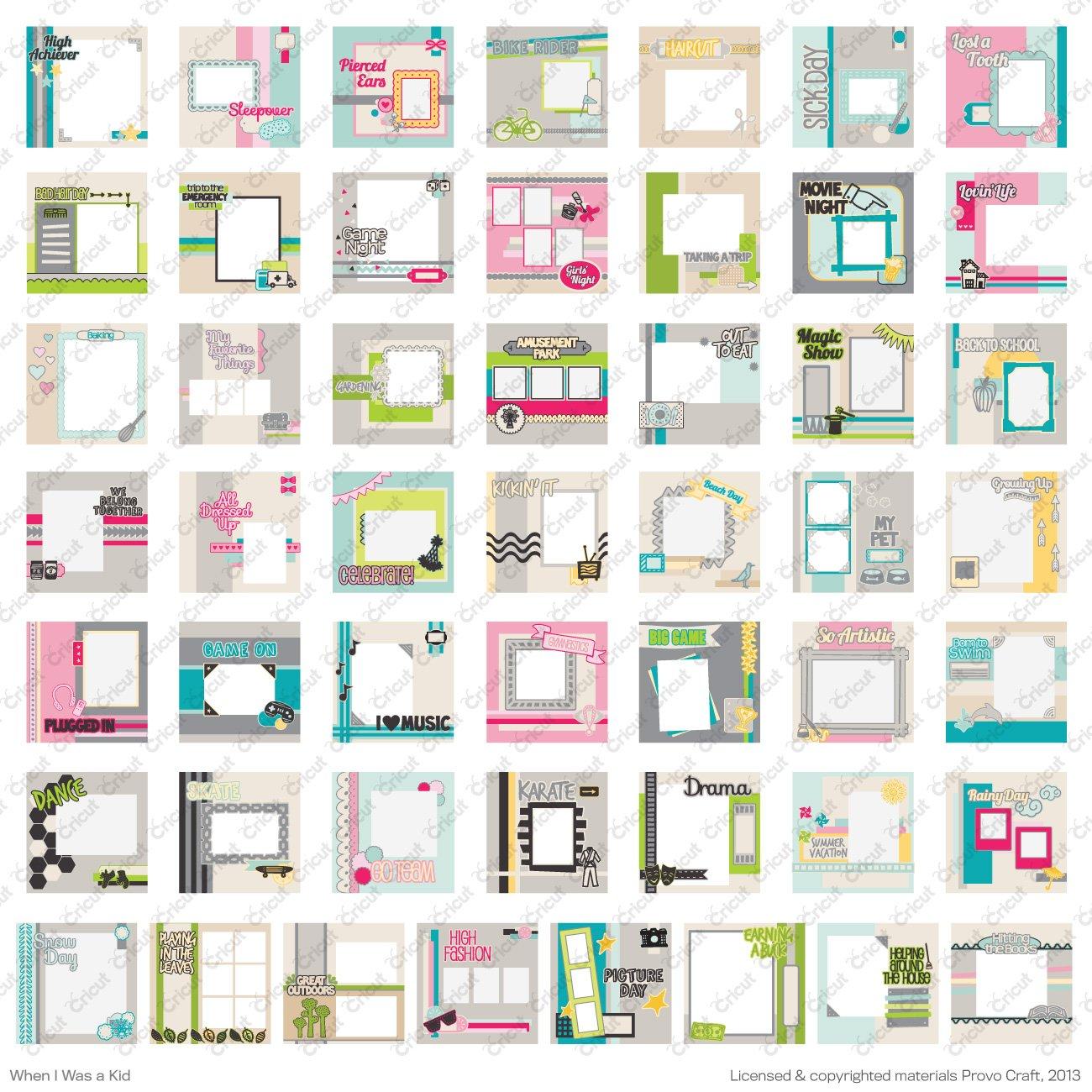 Cricut 2002093-Cartucho para máquina de tipo I manualidades When Was A Kid 3,81 x 13,3 x 24,1 cm: Amazon.es: Hogar