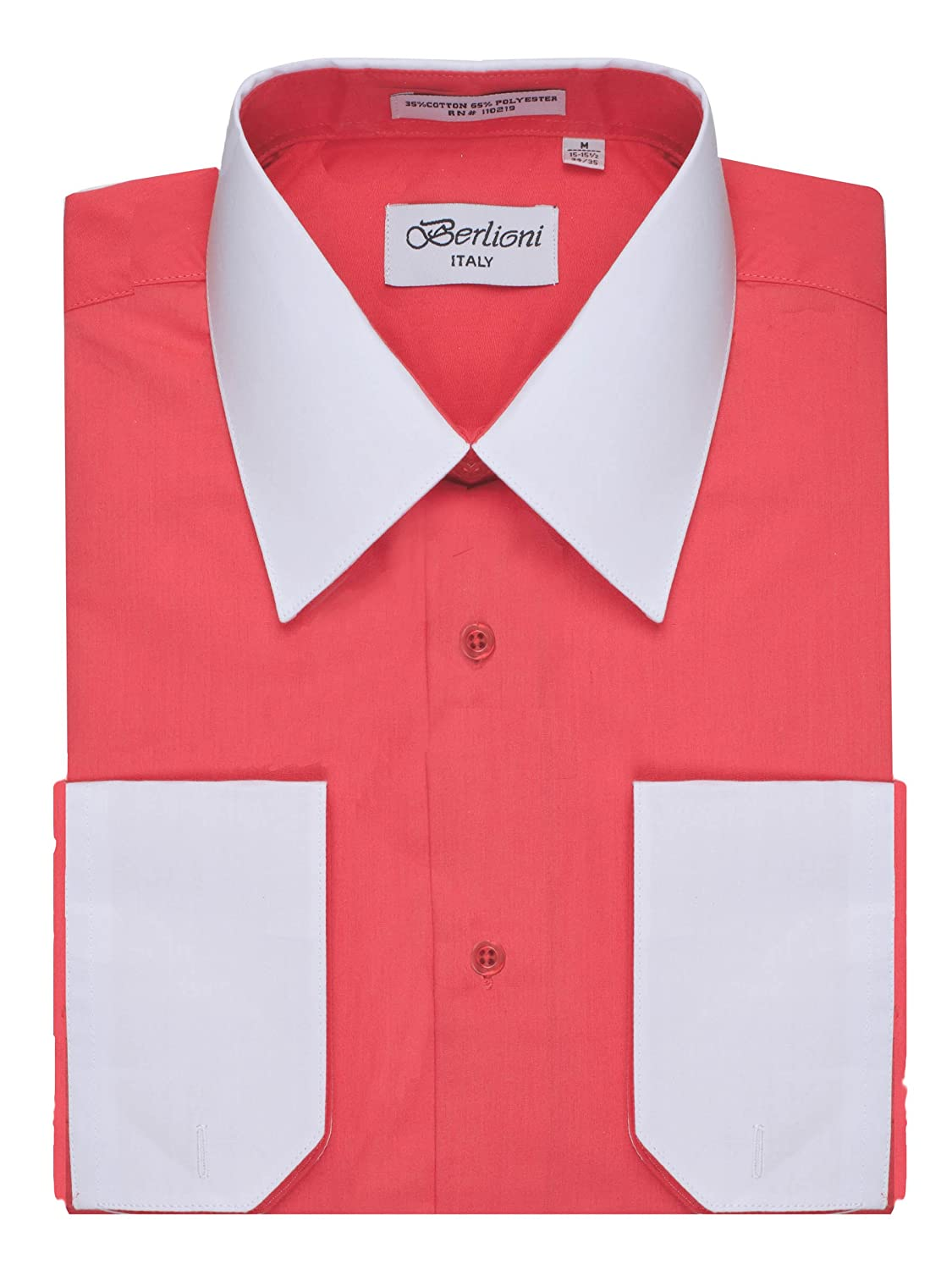 887ba373c77 Energized by a color block design where the notch cuffs and classic pointed  collar are a different color than the rest of the shirt
