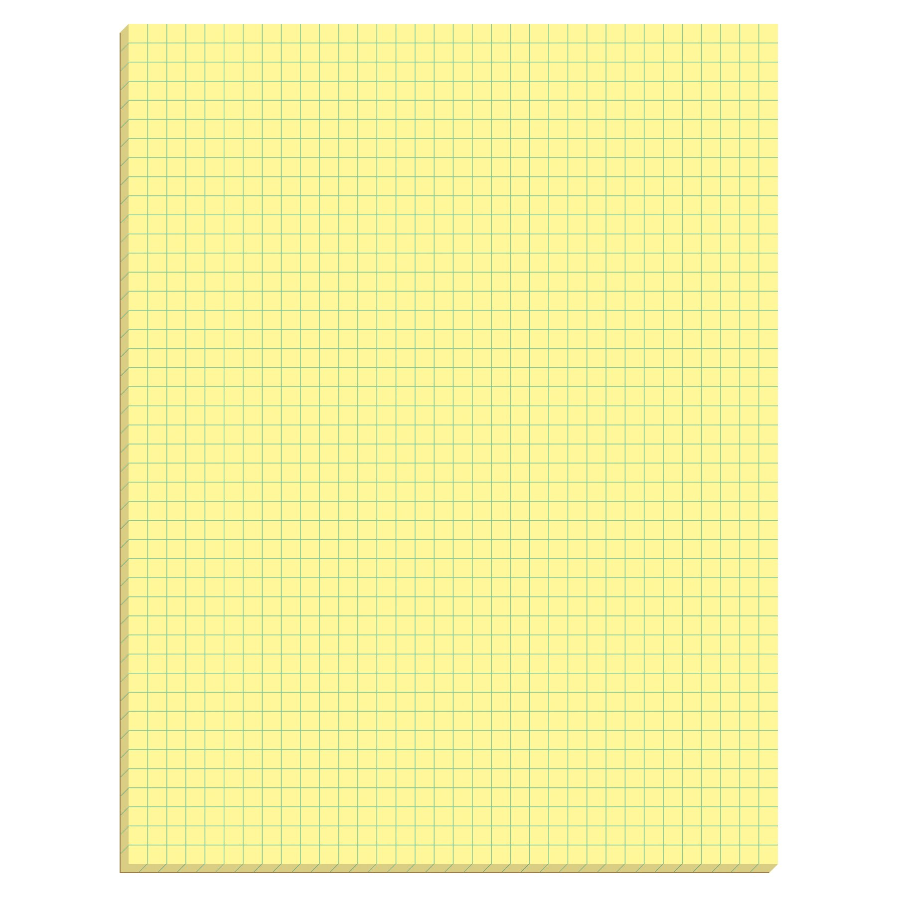 TOPS Quadrille Pad, Gum-Top, 8-1/2 x 11 Inches, Quad Rule (4 x 4), Canary Paper, 50 Sheets per Pad, 12 Pads per Pack (3313) by TOPS