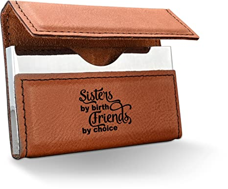 Amazon sister quotes and sayings leatherette business card sister quotes and sayings leatherette business card holder single sided personalized reheart Choice Image