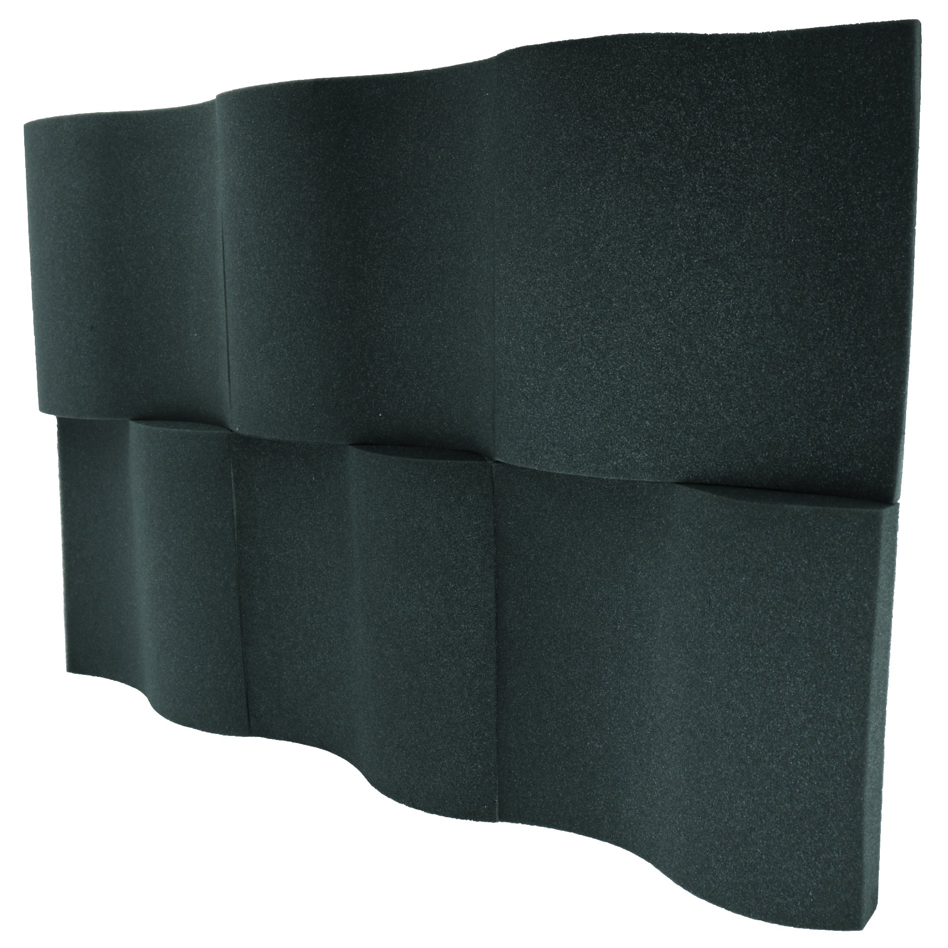 6 Pack - Decorative Acoustic Panels Studio Foam Waves 2'' X 12'' X 12''