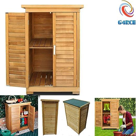 Desconocido Armario de jardín portátil de Madera para Todo Tipo de Clima, para Almacenamiento de Herramientas y Juguetes: Amazon.es: Jardín