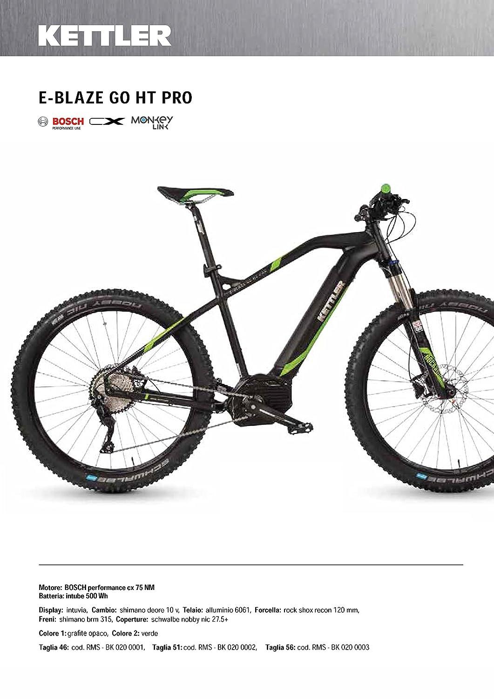MTB 27.5E-Bike Alloy Kettler e-blaze Go HT Pro Cicli Ferrareis