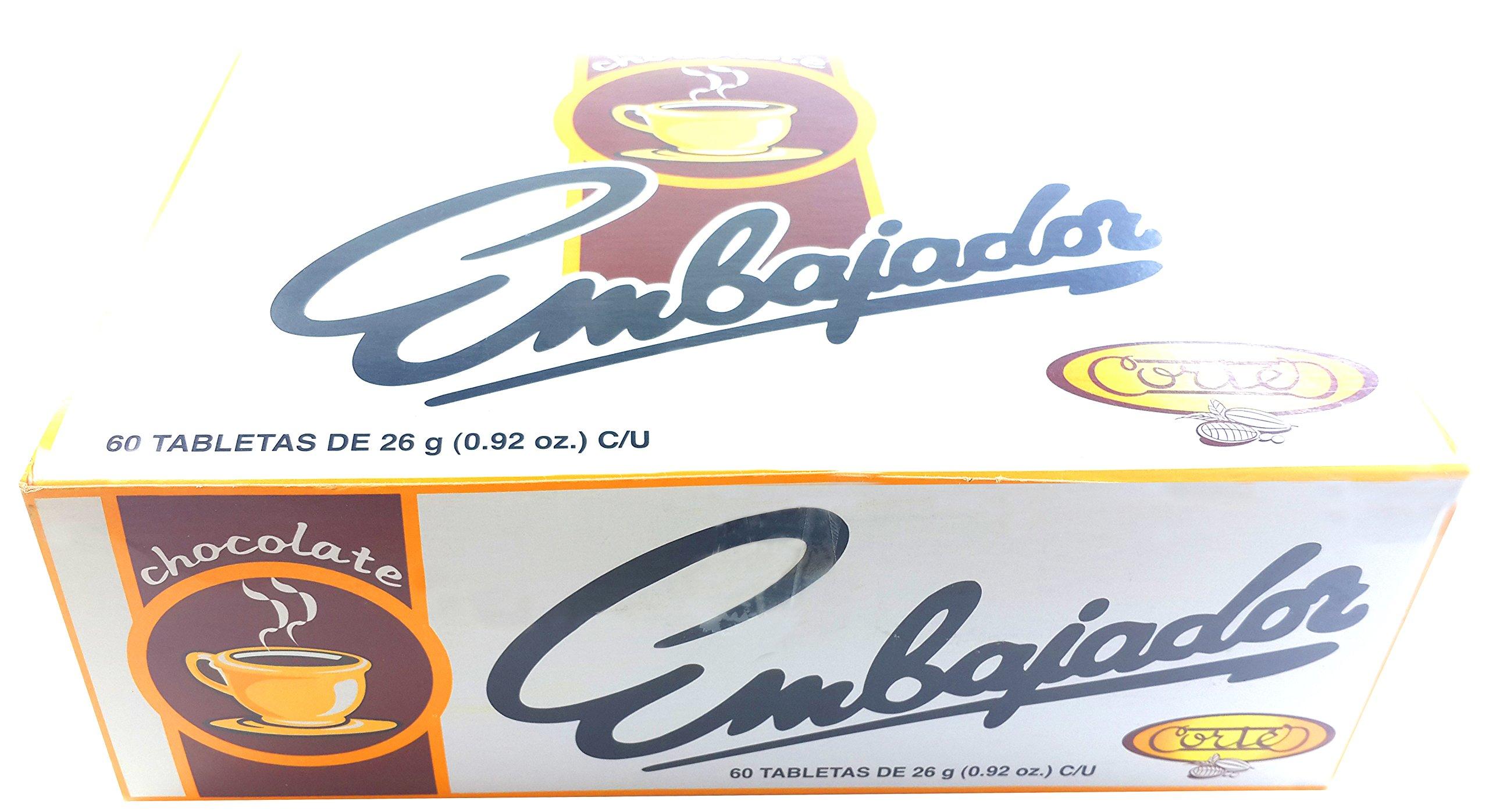 Sweet Dominican Chocolate Embajador Box of 60 Bars / Tablets by Chocolate Embajador