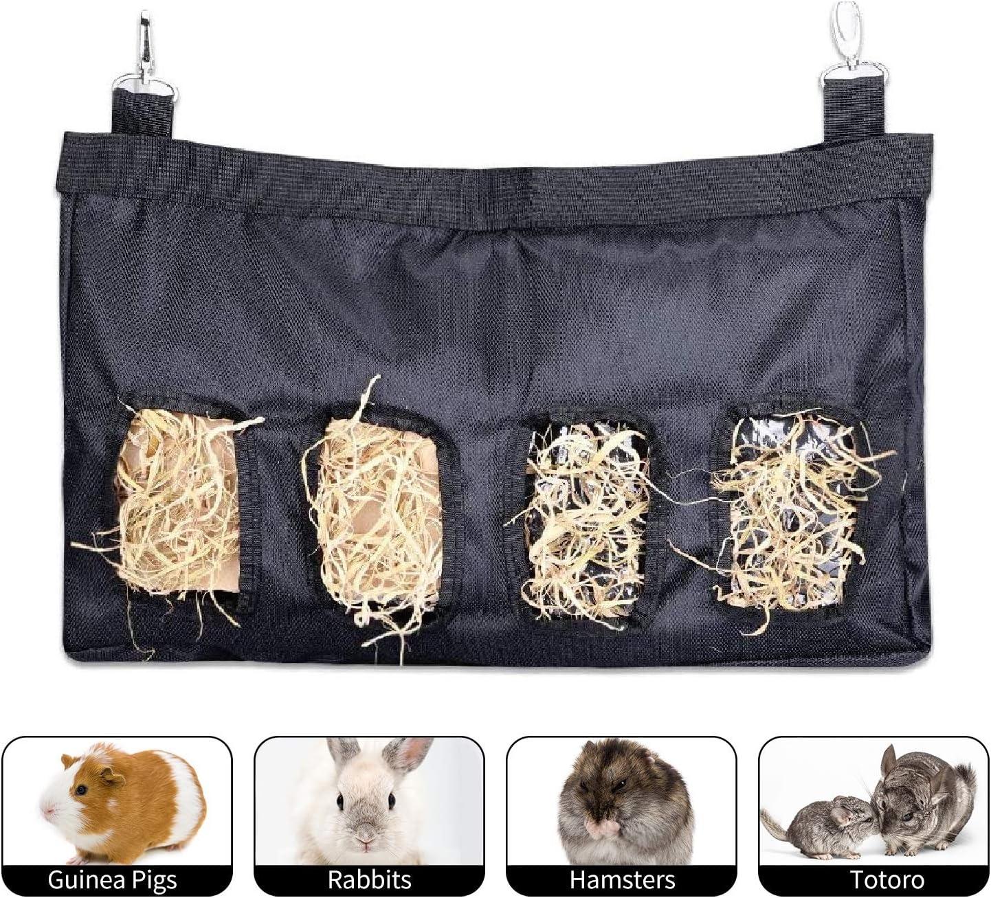 M.Q.L. Bolsa de heno de Conejo, comedero de heno de cuy, comedero de heno para Mascotas, Chinchilla de Conejillo de Indias o Animales pequeños, Bolsa de alimentación de Larga duración.