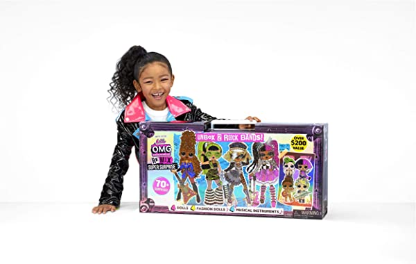 L.O.L. Surprise! O.M.G. Remix Super Surprise collectible fashion dolls toy for kids in package