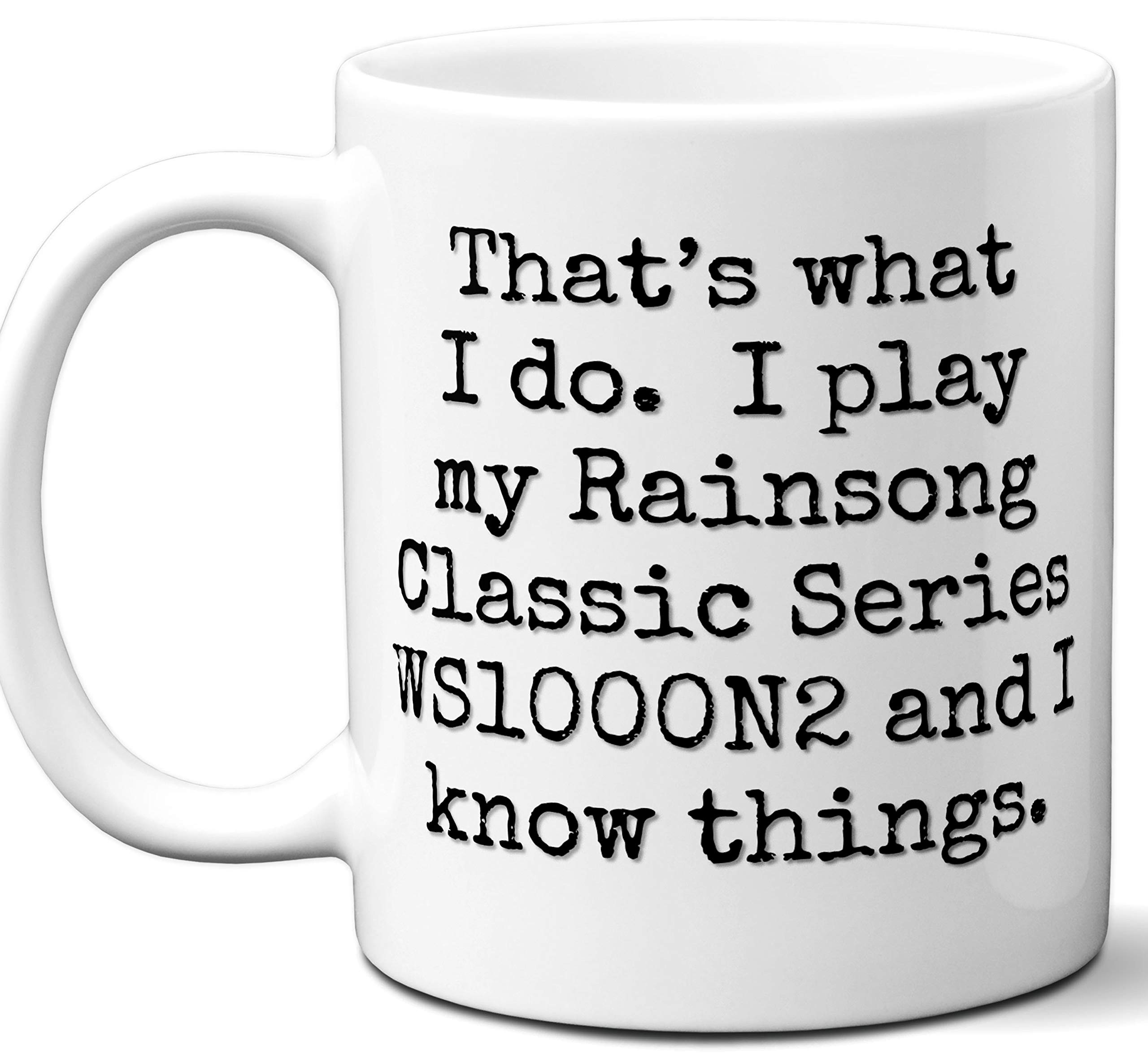 Guitar Gifts Mug. Rainsong Classic Series WS1000N2 Guitar Players Lover Accessories Music Teacher Lover Him Her Funny Dad Men Women Card Pick Musician Acoustic Unique by Ombura