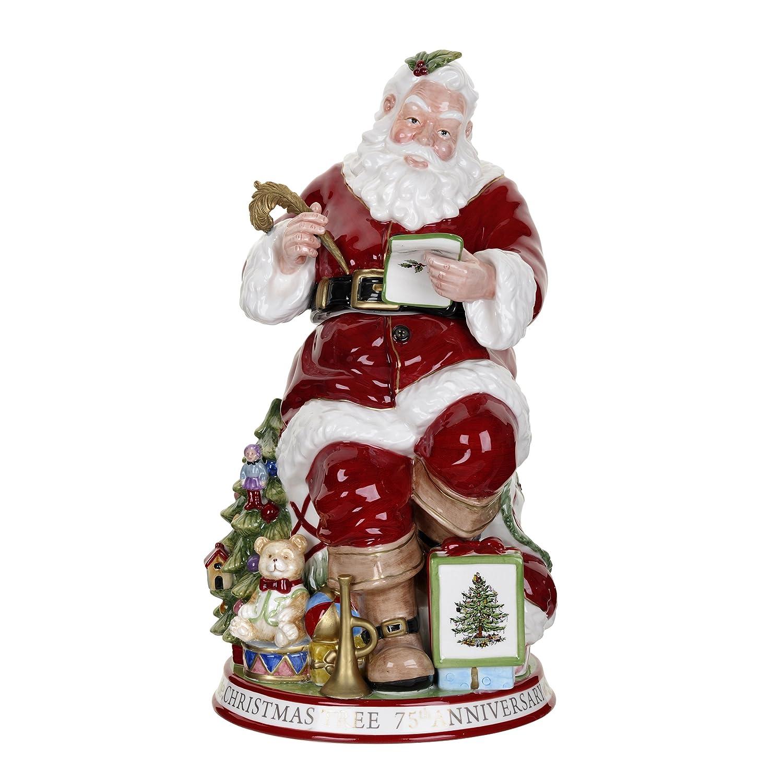 Amazon.com: Spode Christmas Tree Sculptural Santa Cookie Jar: Kitchen U0026  Dining