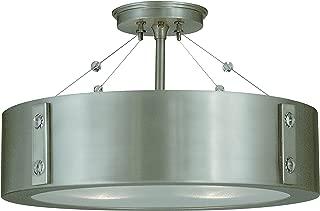 product image for Framburg 5390 SP/PN 4-Light Oracle Flush/Semi-Flush Mount, Satin Pewter/Polished Nickel
