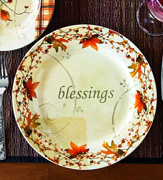 & Amazon.com | Wind u0026 Weather Autumn Dinner Plate: Dinner Plates