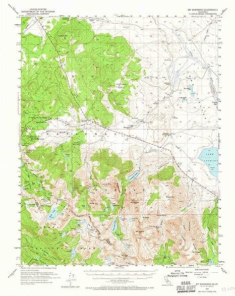 fd1b47ce504b Amazon.com: YellowMaps Mt Morrison CA topo map, 1:62500 Scale, 15 X ...