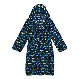 Bluezoo Kids Boys' Blue Multi-Coloured Shark Print Dressing Gown