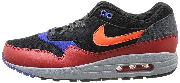 Amazon.com | Nike Mens Air Max 1 Essential Lam Black/Red Clay/Anthracite/Hyper Crimson 537383-017 | Road Running