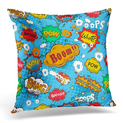 Amazon.com: Emvency Decorative Pillow Cover Magazine Comic ...