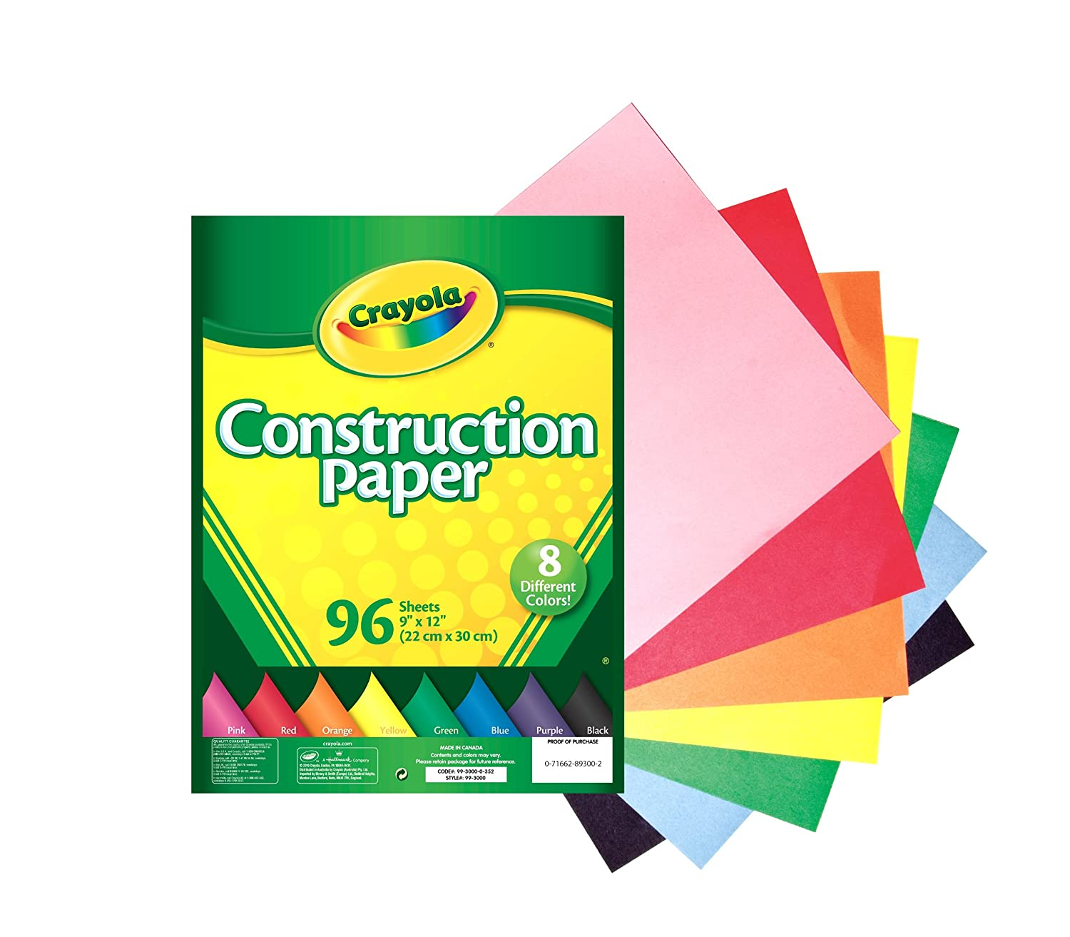 Set of 16 52-5817 Crayola Construction Paper Crayons Assorted Colors