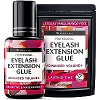 Eyelash Extension Glue - Individual Lash Adhesive Supplies - Sensitive Black Glue for Professionals - Latex Free…