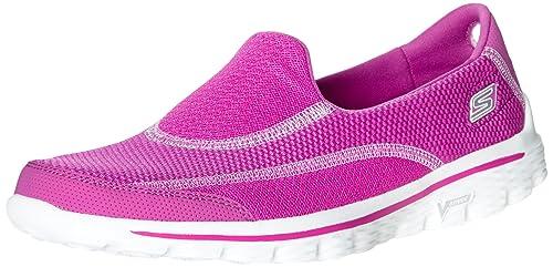 pink skechers go walk 2