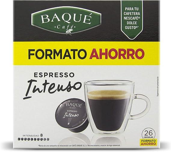 Cafés Baqué 26 Capsulas Compatibles Dolce Gusto Espresso Intenso ...